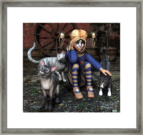 Cat Girl Framed Print