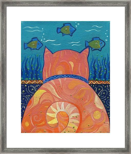 Cat Tales Framed Print