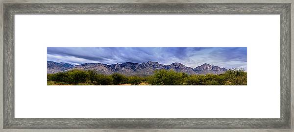 Catalina Mountains P1 Framed Print