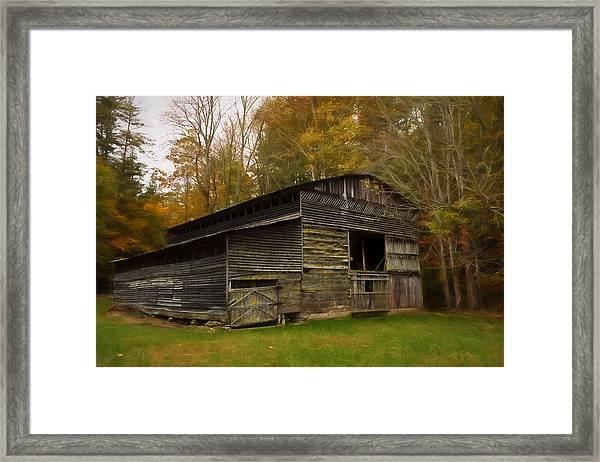 Cataloochee Valley Barn Framed Print