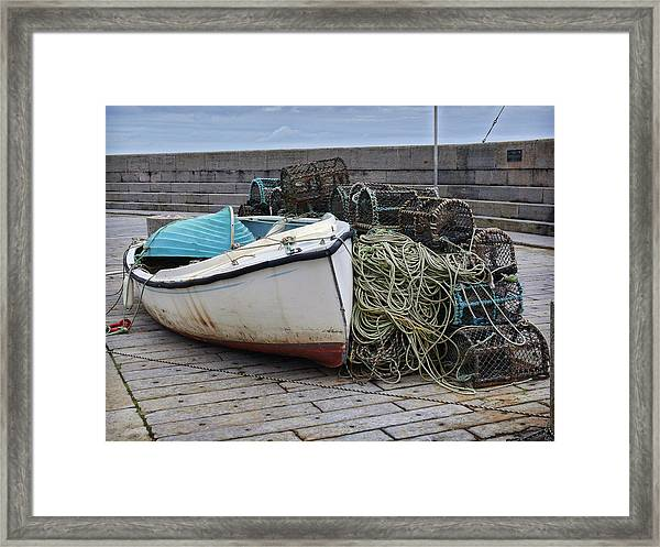 Catch Of The Day At Donaghadee Harbour Framed Print