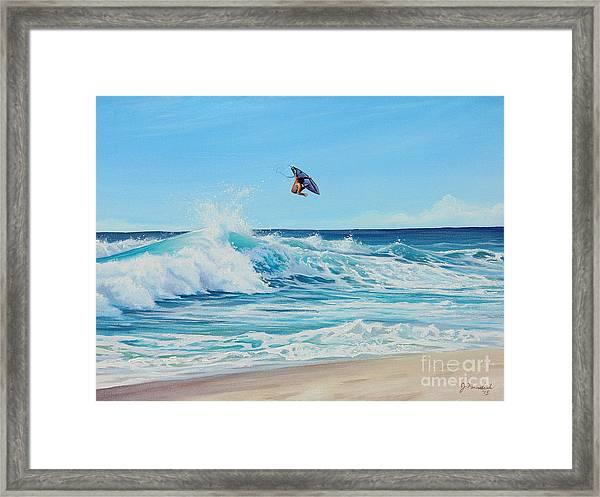 Catching Air Framed Print