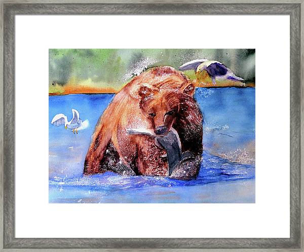 Catching Dinner Framed Print