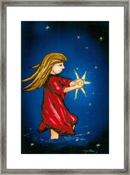 Catching Moonbeams Framed Print