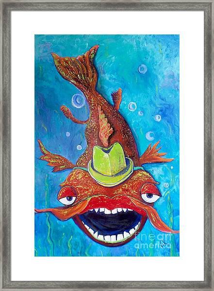 Catfish Clyde Framed Print