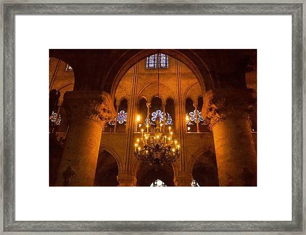 Cathedral Chandelier Framed Print