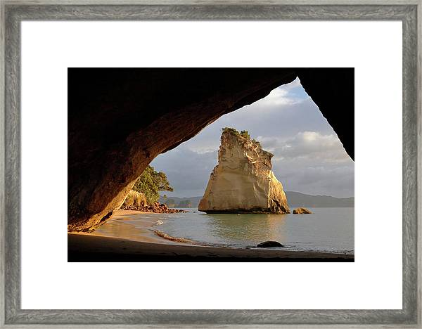 Cathedral Cove Framed Print