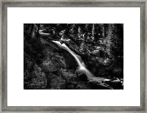 Cathedral Falls From The Tioga Pass Road Framed Print