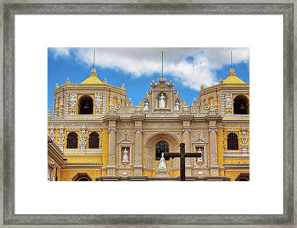 Cathedral In Antigua, Guatemala Framed Print