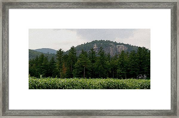 Cathedral Ledge North Conway Nh Framed Print