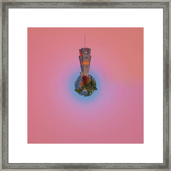 Cathedral Of Learning Little Planet  Framed Print