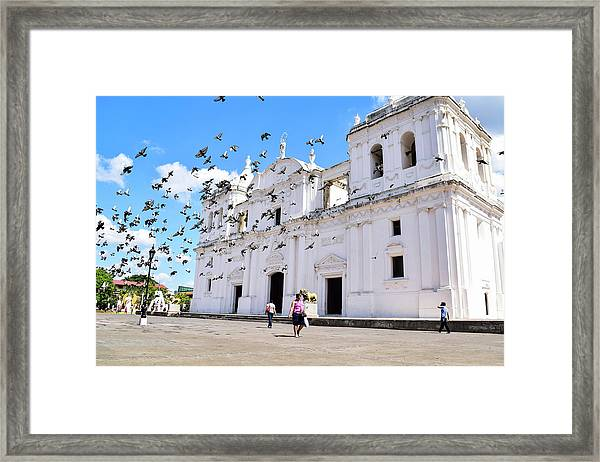 Cathedral Of Leon Framed Print