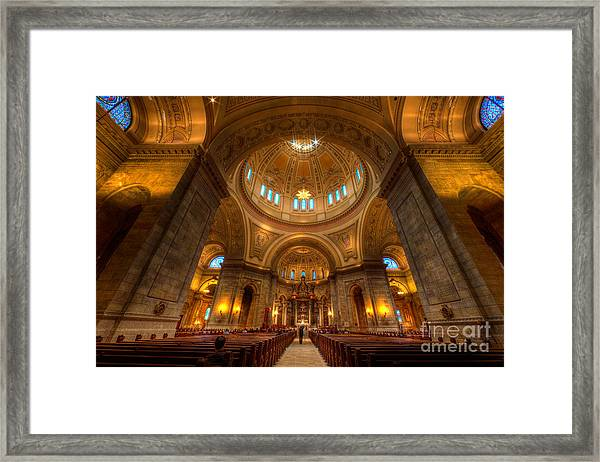 Cathedral Of St Paul Wide Interior St Paul Minnesota Framed Print