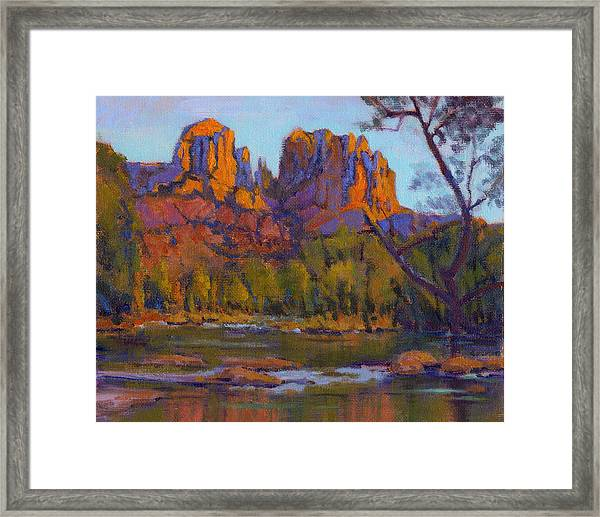 Cathedral Rock 2 - Study Framed Print