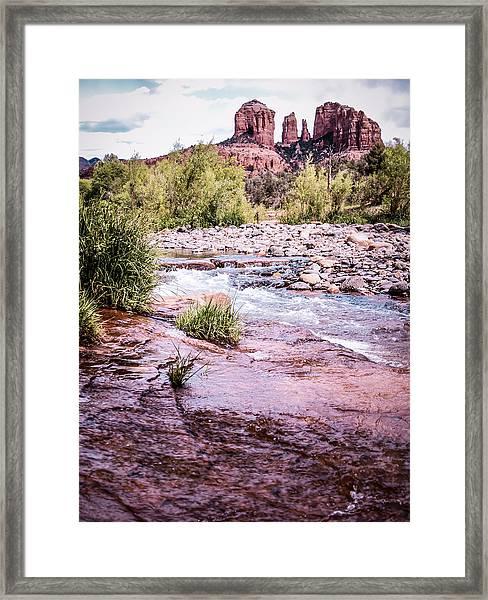 Cathedral Rock At Oak Creak Framed Print