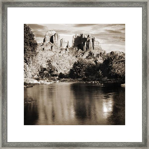 Cathedral Rock Reflection Framed Print