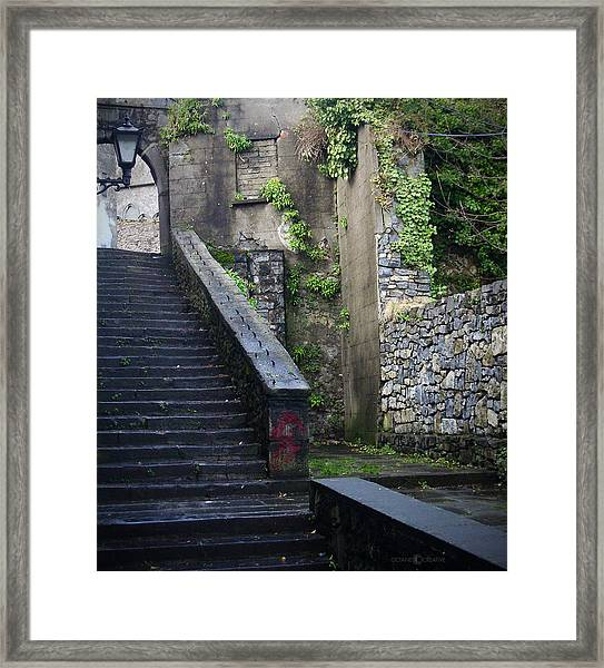 Cathedral Stairs Framed Print