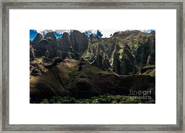 Cathedrals Na Pali Coast #2 Framed Print