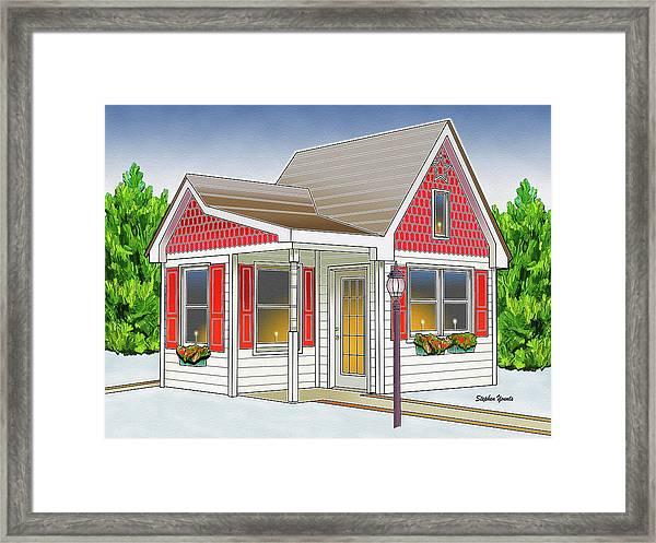 Catonsville Santa House Framed Print