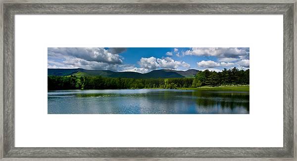 Catskill Mountain Panorama Framed Print
