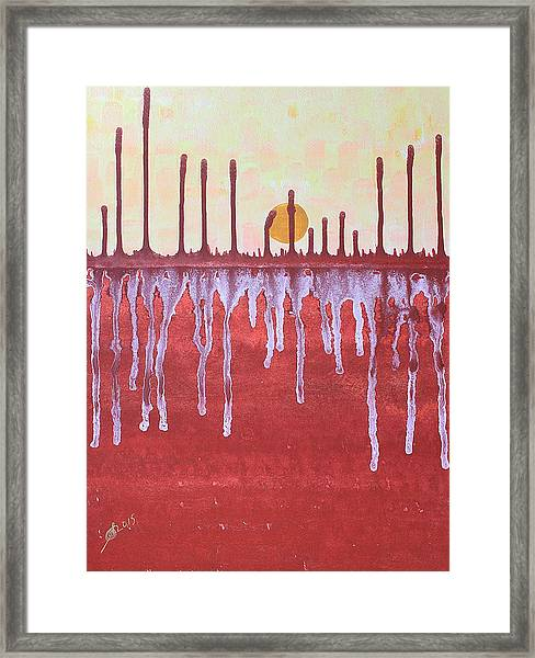 Cattails Original Painting Sold Framed Print