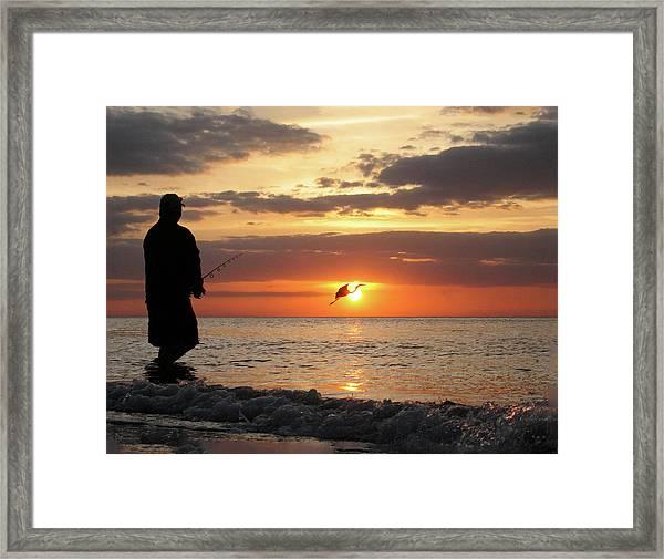 Caught At Sunset Framed Print