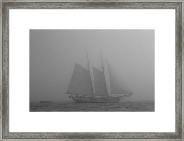 Caught In A Fog Framed Print