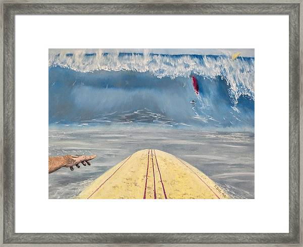 Framed Print featuring the painting Caught Inside by Kevin Daly