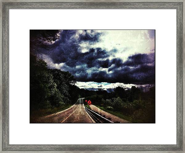 Caution Framed Print