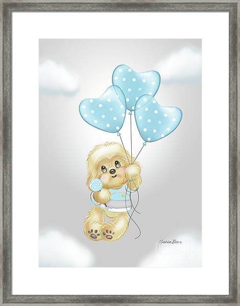 Cavapoo Toby Baby Framed Print