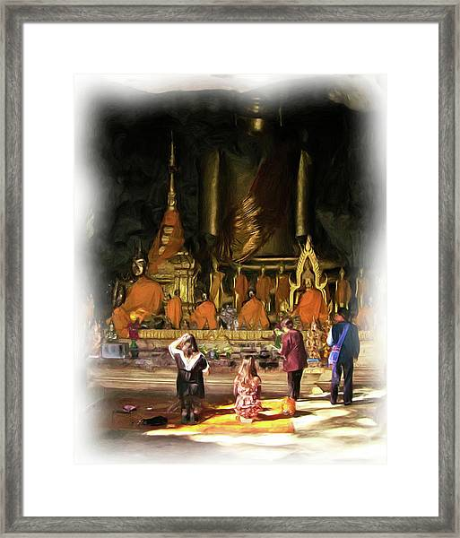 Cave Of The Bat Temple 1 Framed Print