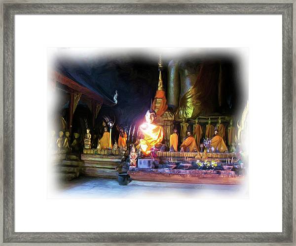 Cave Of The Bat Temple 3 Framed Print