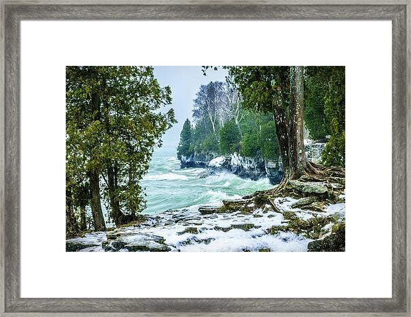 Cave Point #5 Framed Print