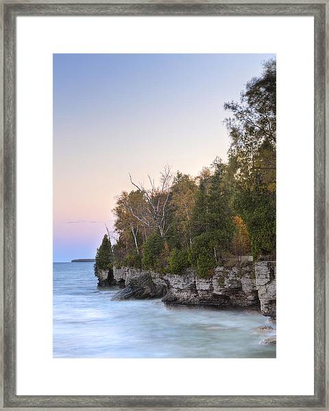 Cave Point  Framed Print by Richard Steinberger