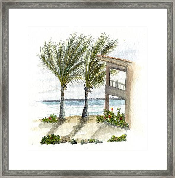 Cayman Hotel Framed Print