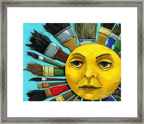 Cbs Sunday Morning Sun Art Framed Print