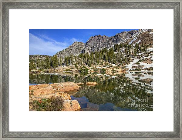 Cecret Lake And Devil's Castle Framed Print