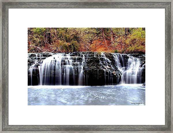 Cedar Creek Falls, Kansas Framed Print