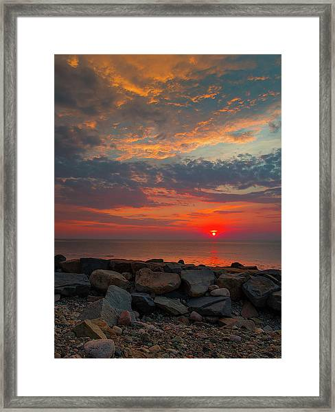 Cedar Point Sunrise Framed Print