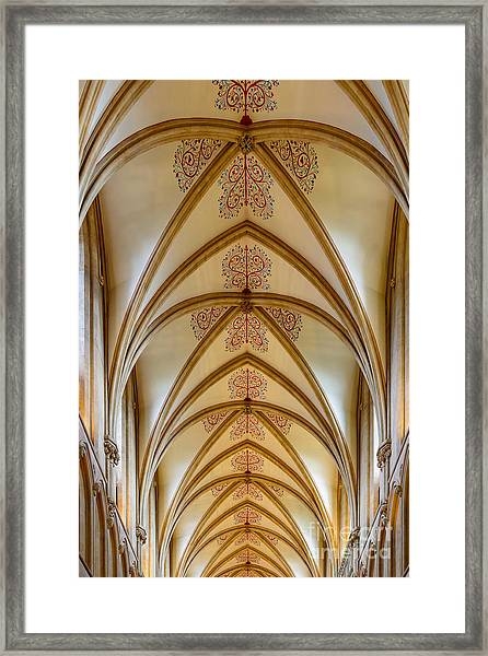 Ceiling, Wells Cathedral. Framed Print