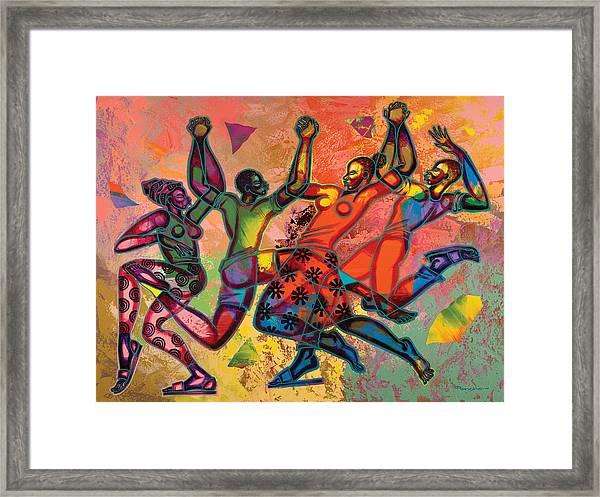 Celebrate Freedom Framed Print