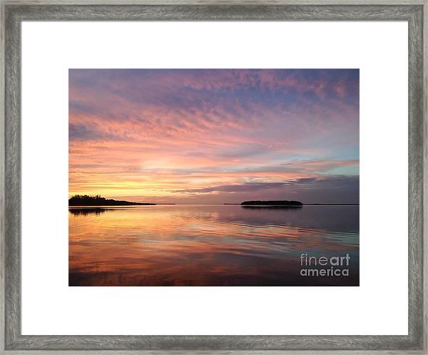 Celebrating Sunset In Key Largo Framed Print