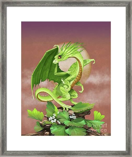 Celery Dragon Framed Print