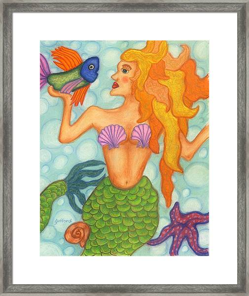 Celeste The Mermaid Framed Print