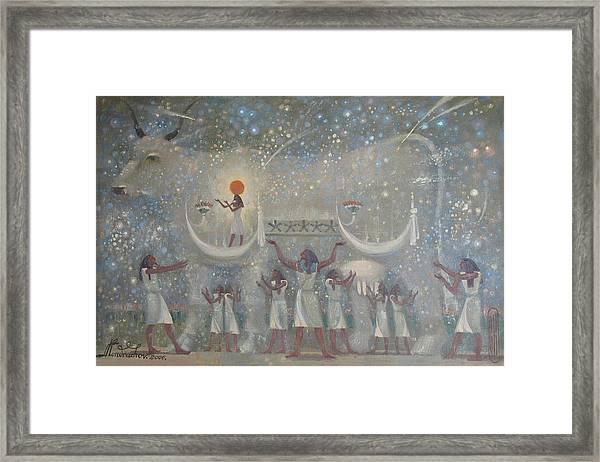 Celestial Cow Framed Print