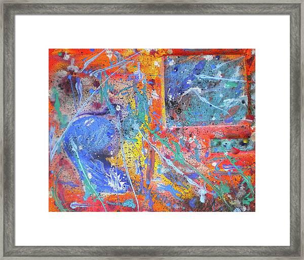 Celestial Eruption Framed Print