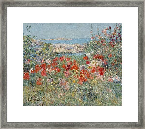 Celia Thaxter's Garden, Isles Of Shoals, Maine Framed Print