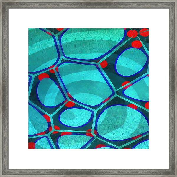 Cell Abstract 6a Framed Print