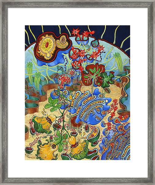 Cell Garden Framed Print