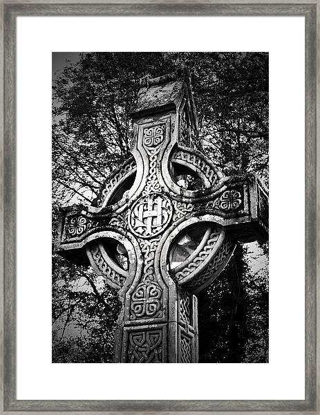 Celtic Cross Detail Killarney Ireland Framed Print